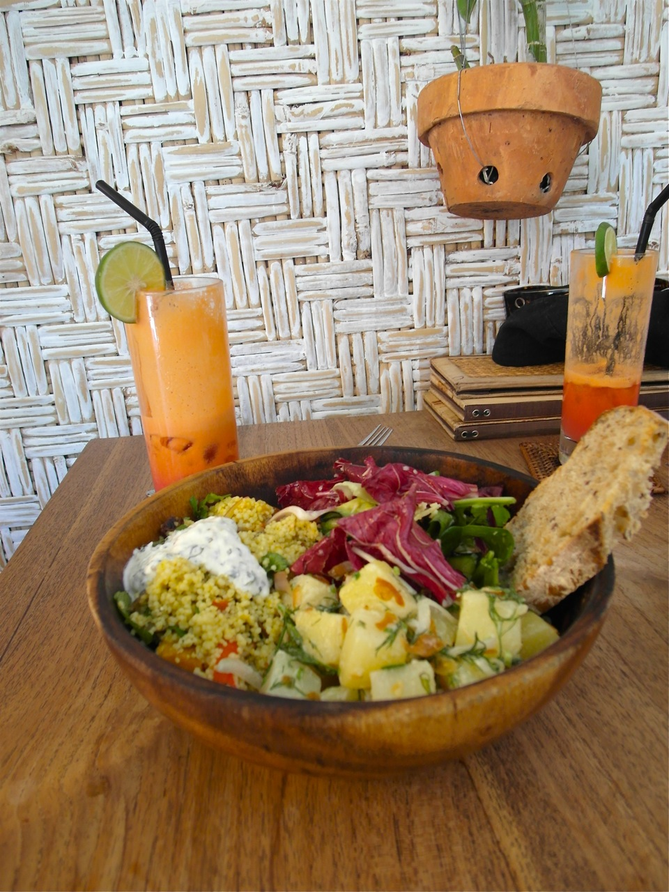 A selection of salads at Cafe Zucchini